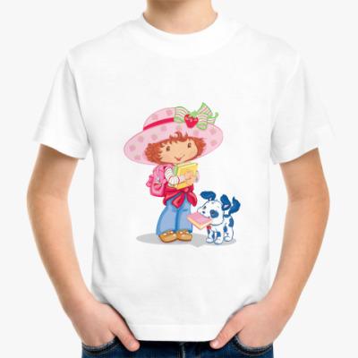 Детская футболка Девочка и щенок