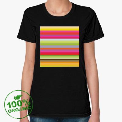 Женская футболка из органик-хлопка Флюид