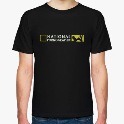 Футболка Мужская футболка Stedman, черная (National Porno)