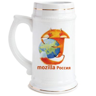 Пивная кружка  кружка MozillaRus