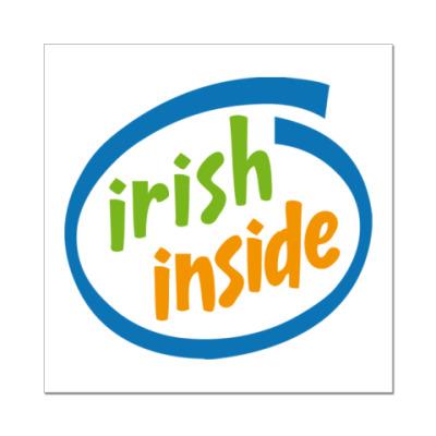 Наклейка (стикер) Irish Inside