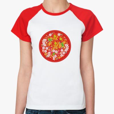 Женская футболка реглан  'Русские сказки'