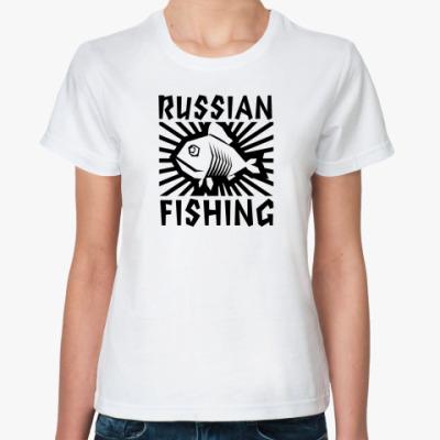 Классическая футболка рыбалка