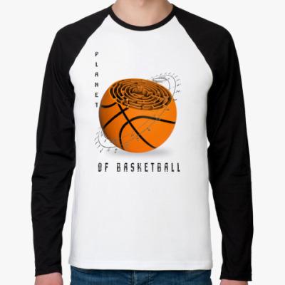 Футболка реглан с длинным рукавом Планета баскетбола