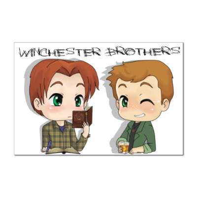 Наклейка (стикер) Братья Винчестеры