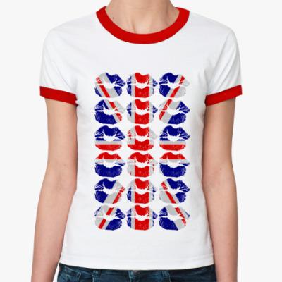 Женская футболка Ringer-T London KISS