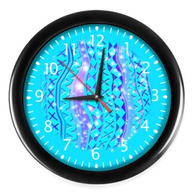 Часы Орнамент Бирюзовое Сияние