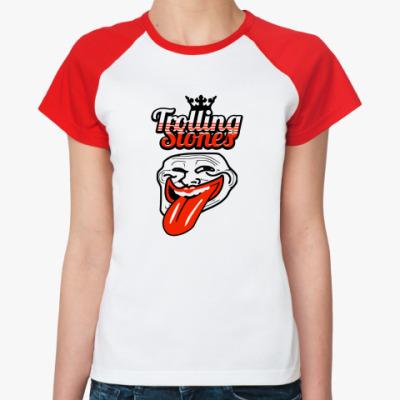 Женская футболка реглан Trolling Stones