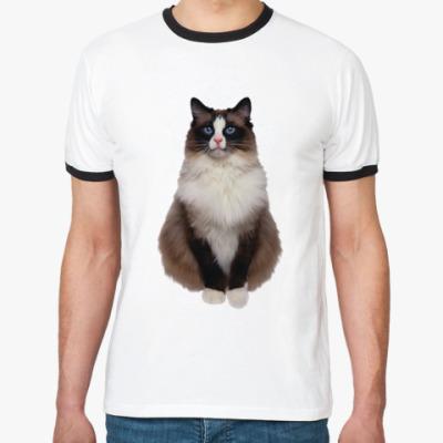 Футболка Ringer-T Blue Eyed Cat