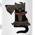 Кот в костюме скотч-терьера