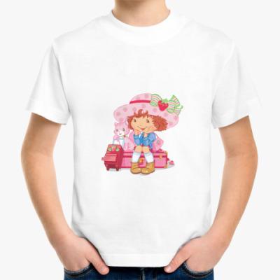 Детская футболка Девочка и котенок