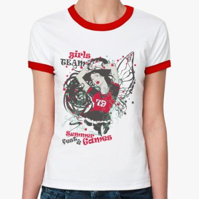 Женская футболка Ringer-T Girl Team