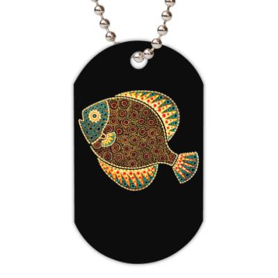 Жетон dog-tag Африканская рыбка