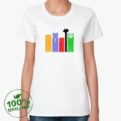 Женская футболка из органик-хлопка Кошки