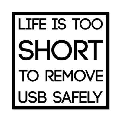 Наклейка (стикер)  Remove USB Safely