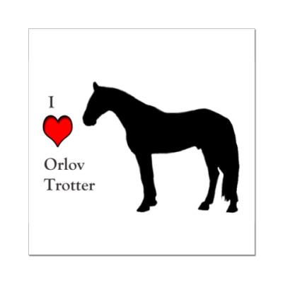 Наклейка (стикер) I Love Orlov Trotter