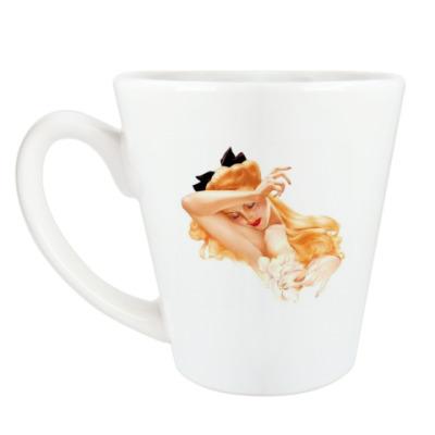 Чашка Латте Девушка