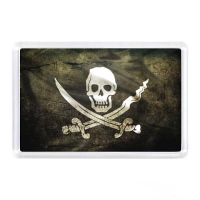 Магнит Пиратский флаг