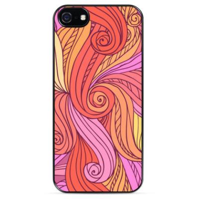 Чехол для iPhone  Розовые локоны