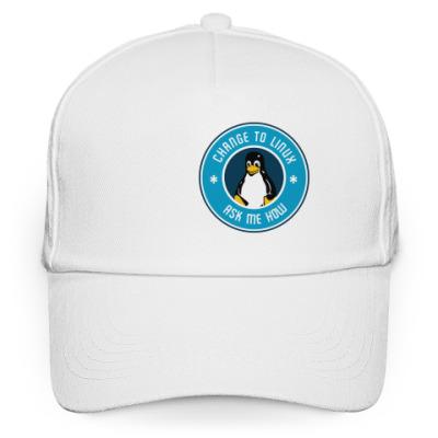 Кепка бейсболка Change to Linux пингвин Tux