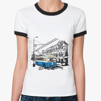 Женская футболка Ringer-T Футболка Ringer-T женская, бел/черн