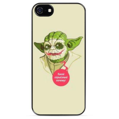 Чехол для iPhone Магистр Йода-Джокер