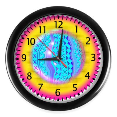 Настенные часы Солнце Радуга