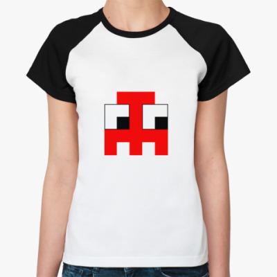 Женская футболка реглан  «Привидение»