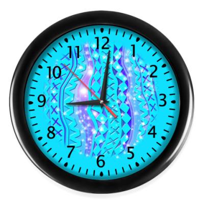 Настенные часы Орнамент Бирюзовое Сияние