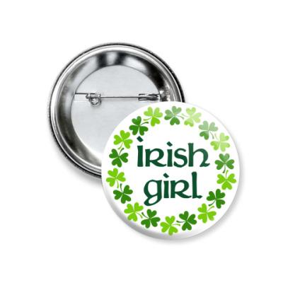 Значок 37мм Irish girl