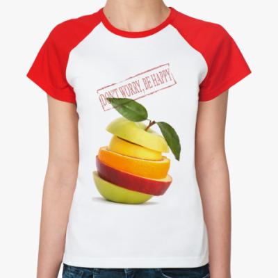 Женская футболка реглан   Don't Worry