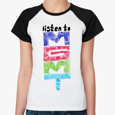Женская футболка реглан   mgmt