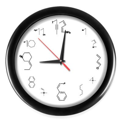 Настенные часы Химические формулы