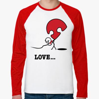 Футболка реглан с длинным рукавом Парная футболка для влюблённых