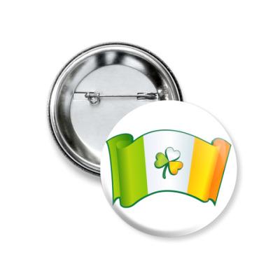Значок 37мм Флаг Ирландии