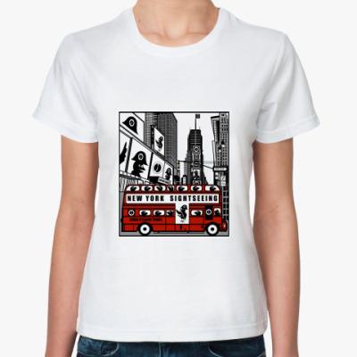 Классическая футболка Ж.  Bathtime Square