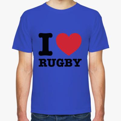 Футболка I love rugby