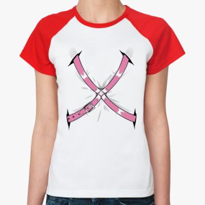 Женская футболка реглан 'Bondage' фетиш