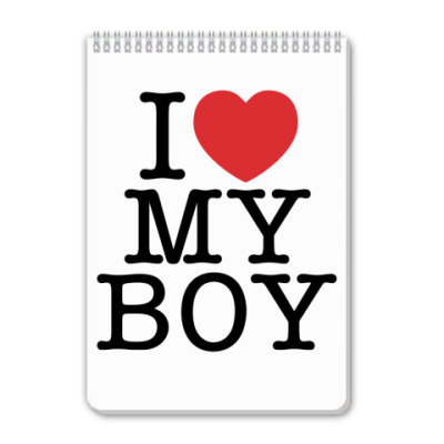 Блокнот I love My Boy