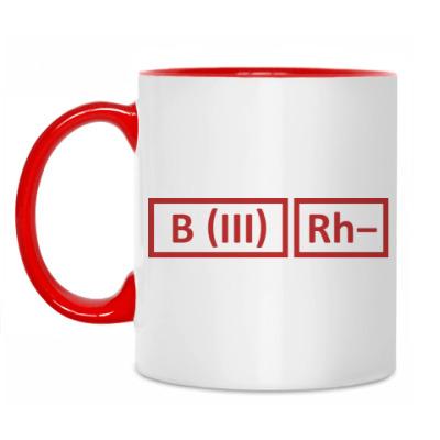 Кружка Группа крови 3 Rh-