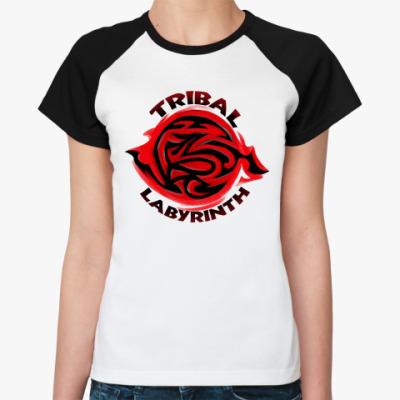 Женская футболка реглан Ритуальный лабиринт