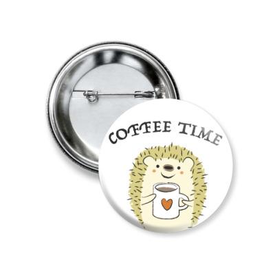Значок 37мм Coffee time
