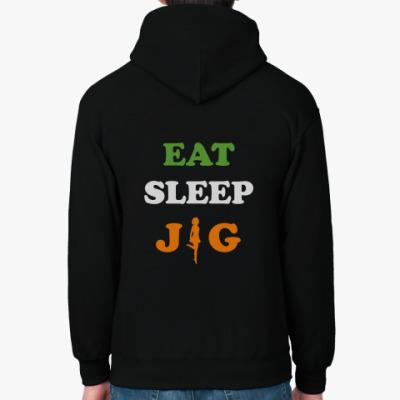 Толстовка худи Eat. Sleep. Jig