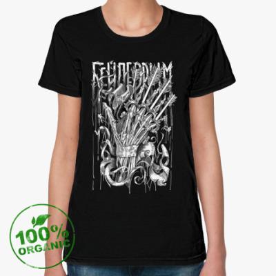 Женская футболка из органик-хлопка Чертово Колесо Инженера Ферриса: Кастет