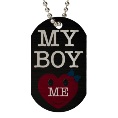 Жетон dog-tag My Boy LOVE ME