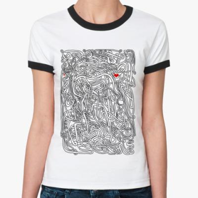 Женская футболка Ringer-T Лабиринт
