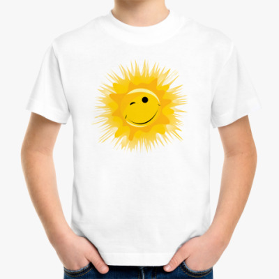 Детская футболка Солнце