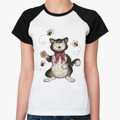 Женская футболка реглан Охота на пчёл