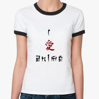 Женская футболка Ringer-T   Ai Anime