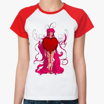 Женская футболка реглан In Love